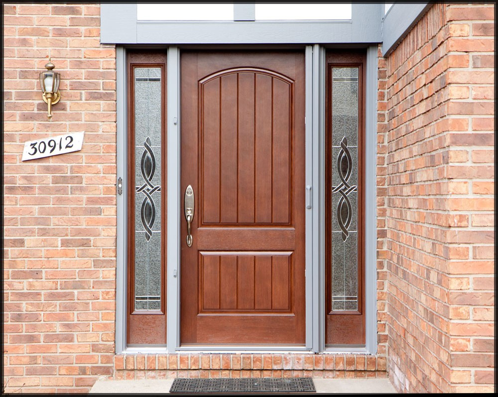 A new thermatru front entry door john mccarter construction for Front entrance doors